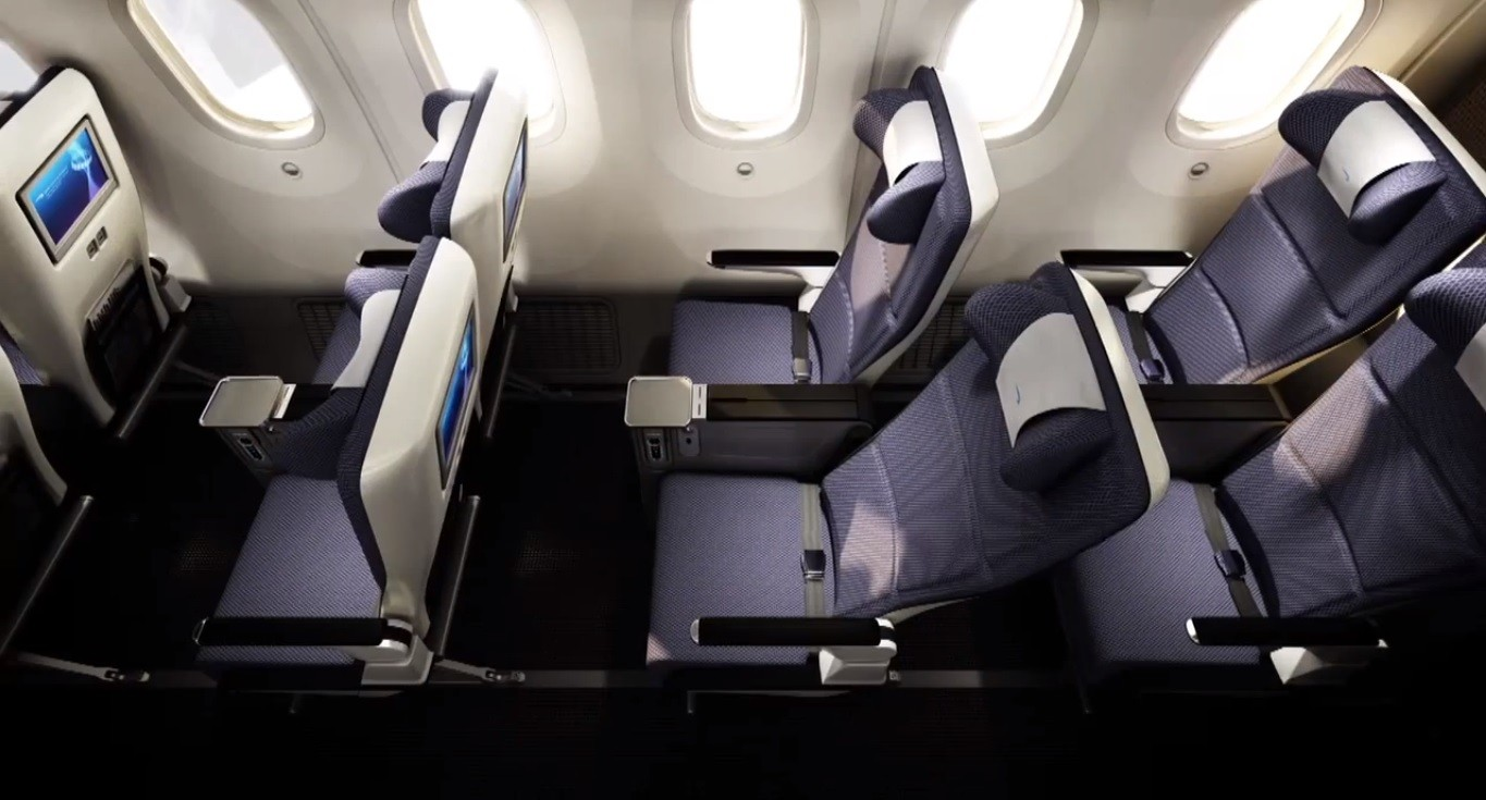 British Airways Boeing 787 World Traveller Plus Cabin